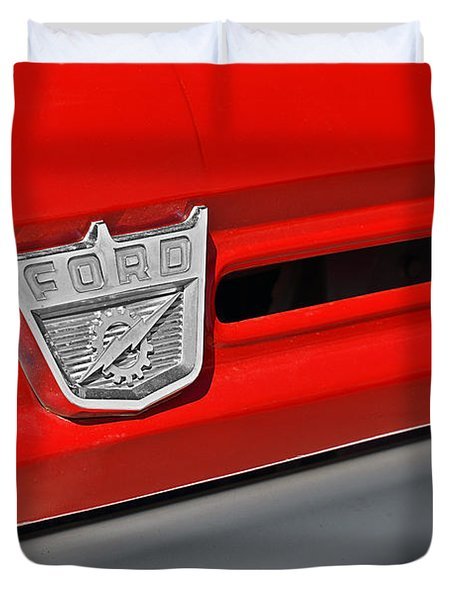 Ford F-500 - Route 66 - Winslow Arizona Duvet Cover by Christine Till