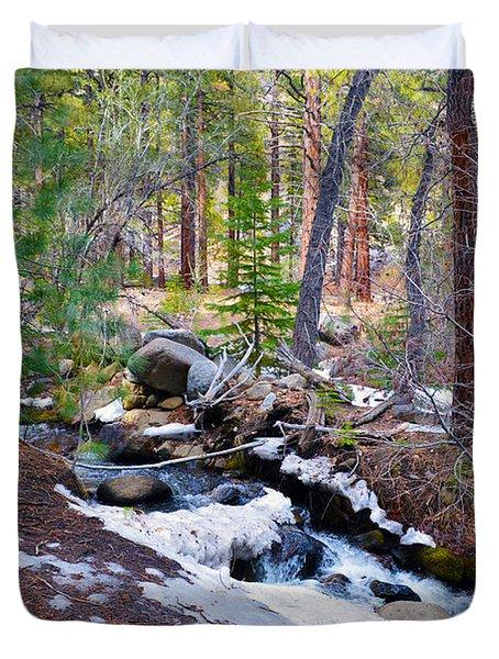 Forest Creek 4 Duvet Cover by Brent Dolliver