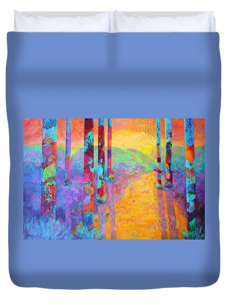 Forest Fantasy Duvet Cover by Nancy Jolley