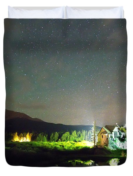 Forest Of Stars Above The Chapel On The Rock Duvet Cover by James BO  Insogna