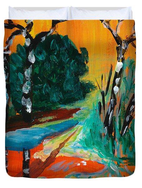 Forest Path Miniature Duvet Cover by Lidija Ivanek - SiLa