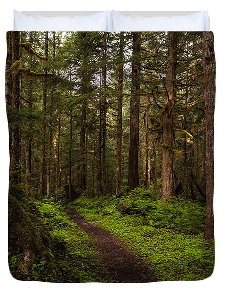 Forest Serenity Path Duvet Cover by Mike Reid