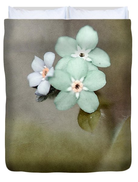 Forget Me Not 03 - S07bt07 Duvet Cover by Variance Collections
