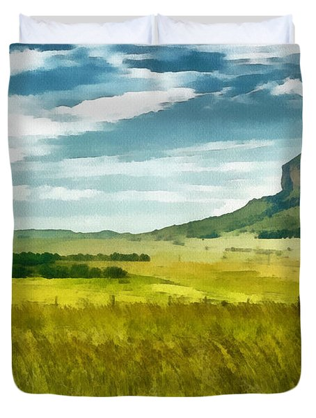 Forgotten Fields Duvet Cover by Ayse Deniz