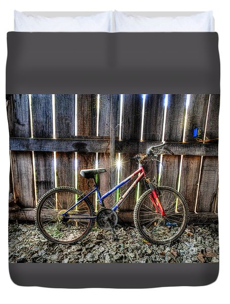 Forgotten Replaced By New Set Of Wheels Duvet Cover by Dan Friend