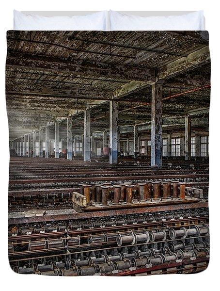 Forgotten Silk Mill Duvet Cover by Susan Candelario