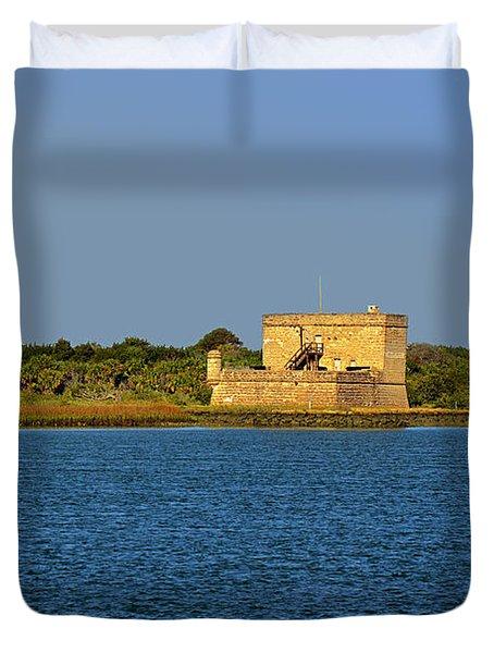 Fort Matanzas - Saint Augustine Florida Duvet Cover by Christine Till