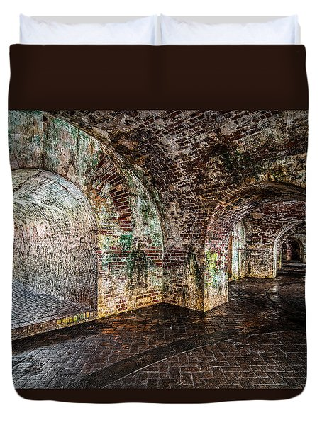 Fort Pike Duvet Cover by Andy Crawford