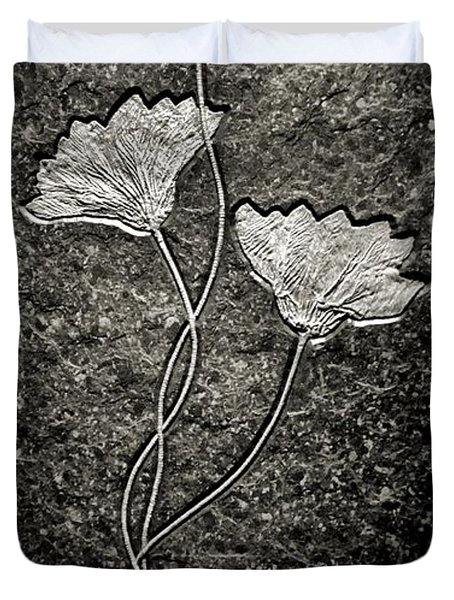 Fossilized Flowers Duvet Cover by Dan Sproul