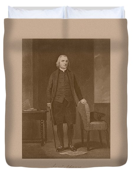 Founding Father Samuel Adams Duvet Cover by War Is Hell Store