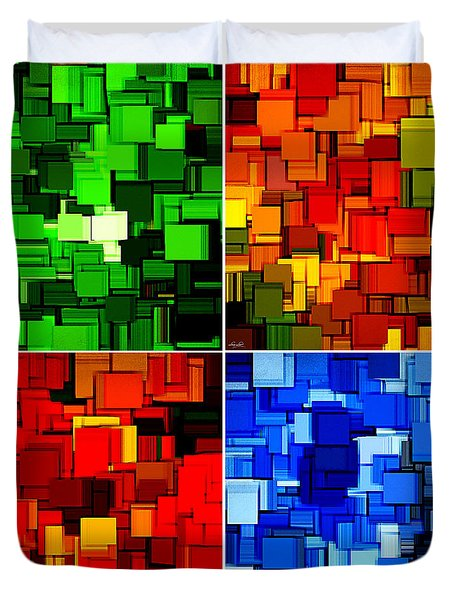 Four Seasons In Abstract II Duvet Cover by Lourry Legarde