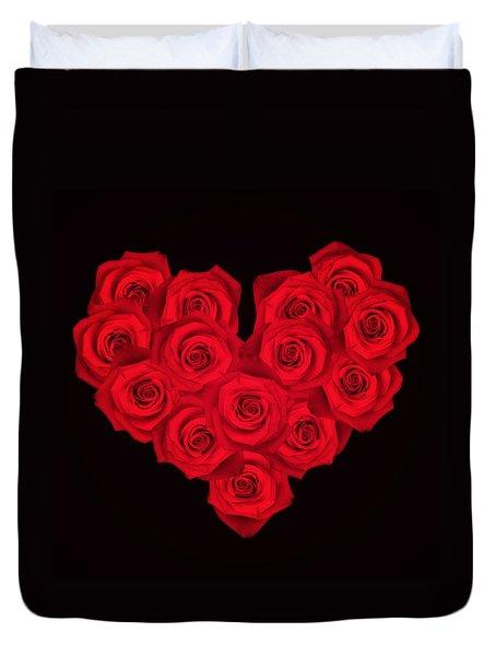 Fourteen Roses Duvet Cover by Wim Lanclus