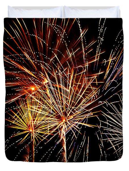 Fourth Of July Fireworks  Duvet Cover by Saija  Lehtonen