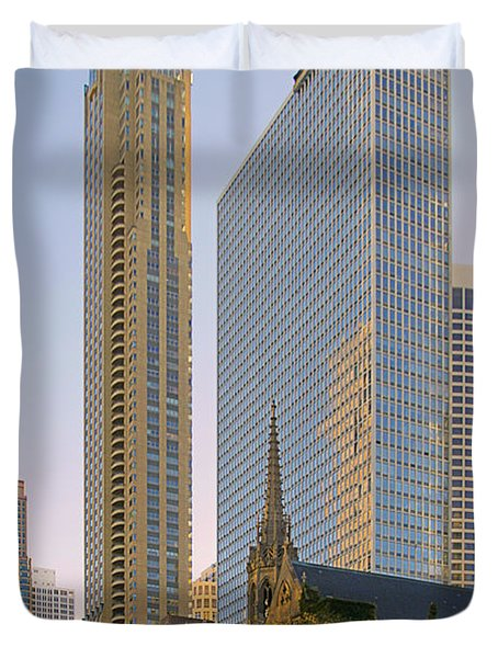 Fourth Presbyterian Church Chicago Duvet Cover by Christine Till