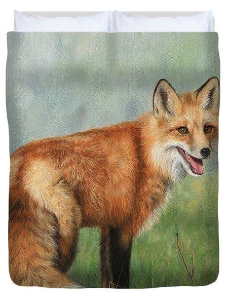 Fox  Duvet Cover by David Stribbling