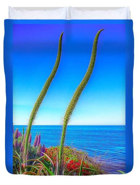 Foxtails On The Pacific Duvet Cover by Jim Carrell
