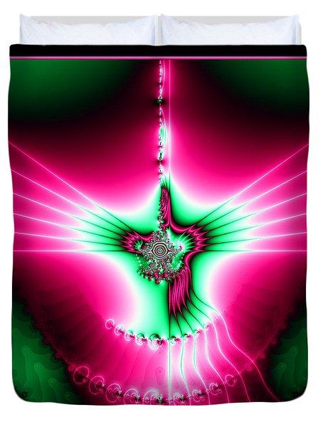 Fractal 11 Holy Spirit Duvet Cover by Rose Santuci-Sofranko