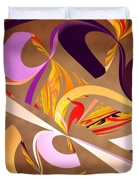 Fractal - Abstract - Space Time Duvet Cover by Mike Savad