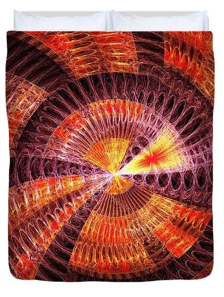 Fractal - Abstract - The Constant Duvet Cover by Mike Savad