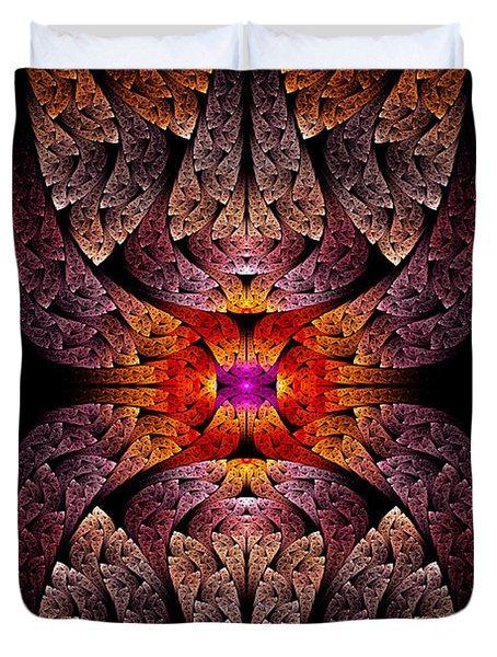 Fractal - Aztec - The Aztecs Duvet Cover by Mike Savad