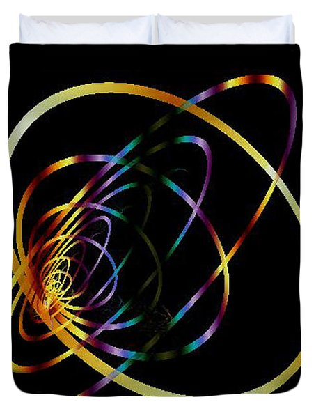 Fractal Hoops Duvet Cover by Mikki Cucuzzo