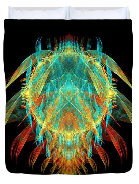 Fractal - Insect - I found it in my cereal Duvet Cover by Mike Savad