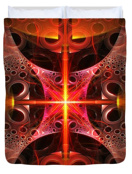 Fractal - Science - Cold Fusion Duvet Cover by Mike Savad