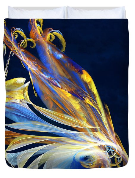 Fractal - Sea Creature Duvet Cover by Susan Savad