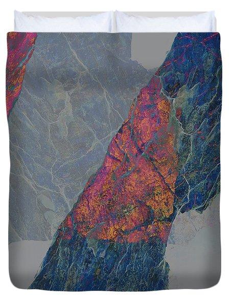 Fracture XXX Duvet Cover by Paul Davenport