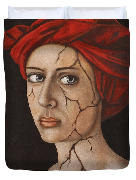 Fractured Identity Edit 1 Duvet Cover by Leah Saulnier The Painting Maniac