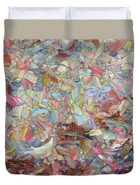 Fragmented Hill Duvet Cover by James W Johnson