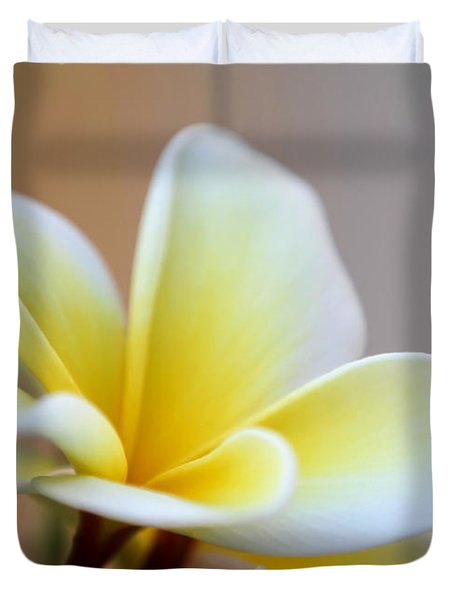Fragrant Frangipani Flower Duvet Cover by Sabrina L Ryan
