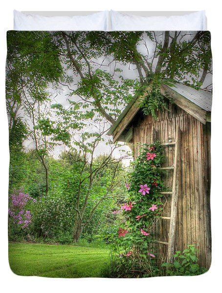 Fragrant Outhouse Duvet Cover by Lori Deiter