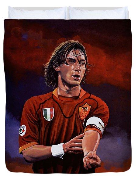 Francesco Totti Duvet Cover by Paul Meijering