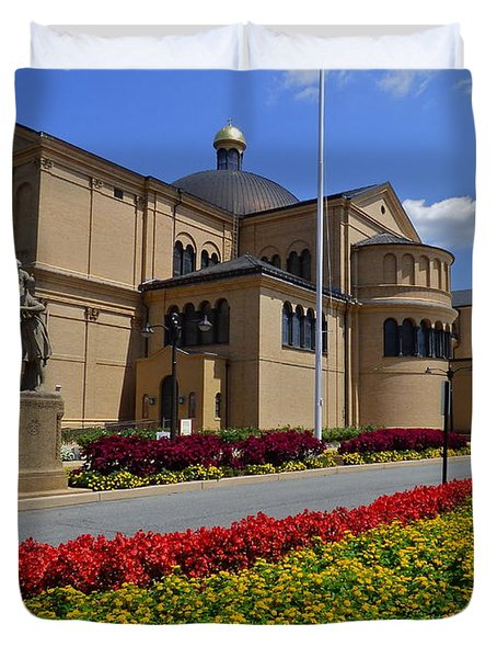 Franciscan Monastery In Washington Dc Duvet Cover by Jean Doepkens Wright