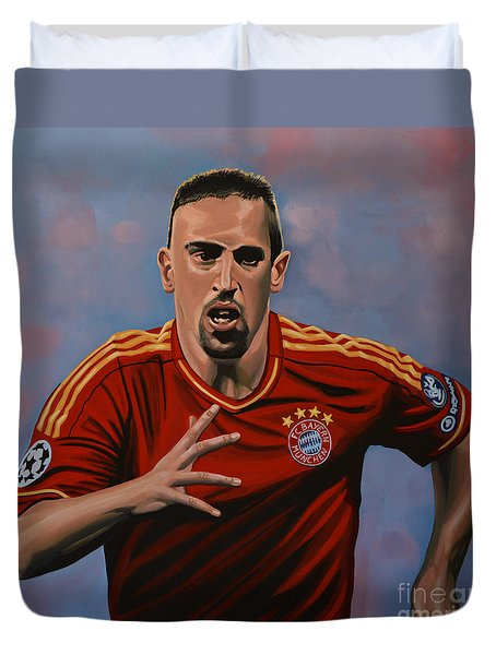Franck Ribery Duvet Cover by Paul Meijering