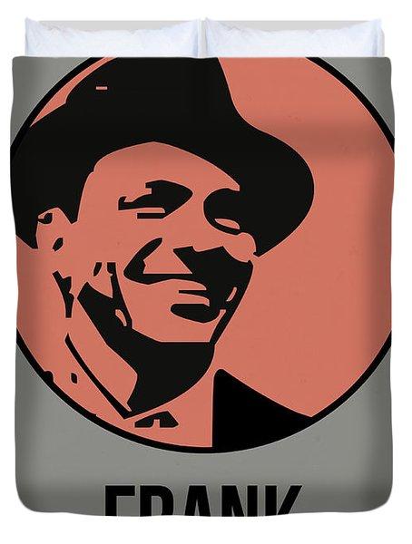 Frank Poster 1 Duvet Cover by Naxart Studio