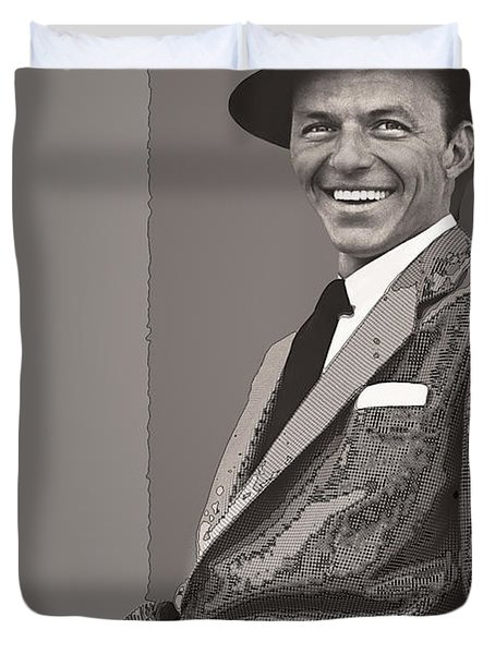 Frank Sinatra Duvet Cover by Daniel Hagerman
