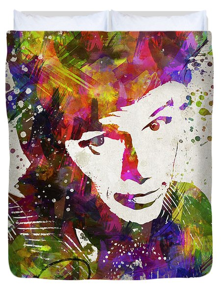 Frank Sinatra In Color Duvet Cover by Aged Pixel
