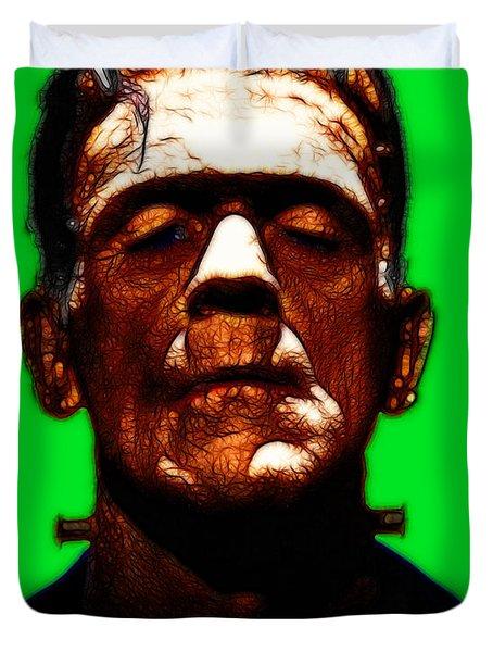 Frankenstein - Green Duvet Cover by Wingsdomain Art and Photography