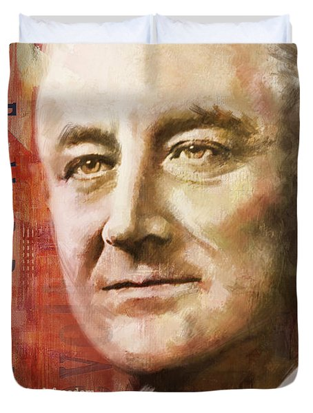 Franklin D. Roosevelt Duvet Cover by Corporate Art Task Force