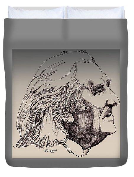 Franz Liszt Duvet Cover by Derrick Higgins