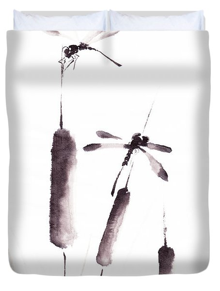 Free As The Dragonflies Duvet Cover by Oiyee  At Oystudio
