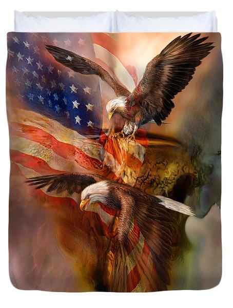 Freedom Ridge Duvet Cover by Carol Cavalaris