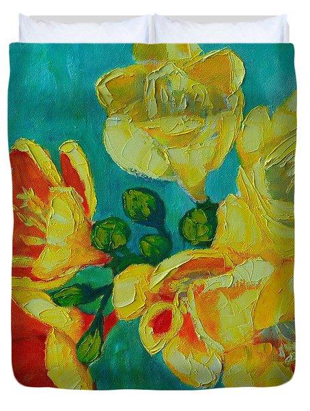 Freesia Duvet Cover by Ana Maria Edulescu