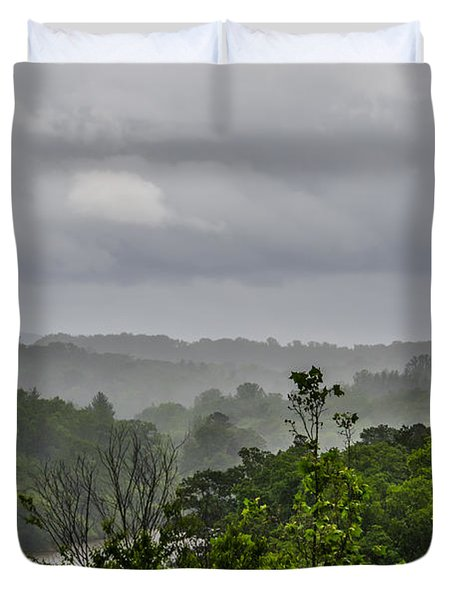 French Broad River Duvet Cover by Carolyn Marshall