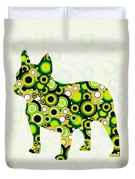 French Bulldog - Animal Art Duvet Cover by Anastasiya Malakhova