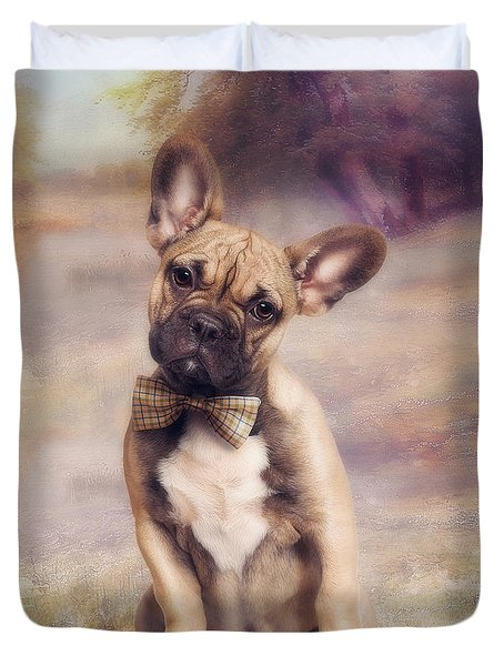 French Bulldog Duvet Cover by Cindy Grundsten