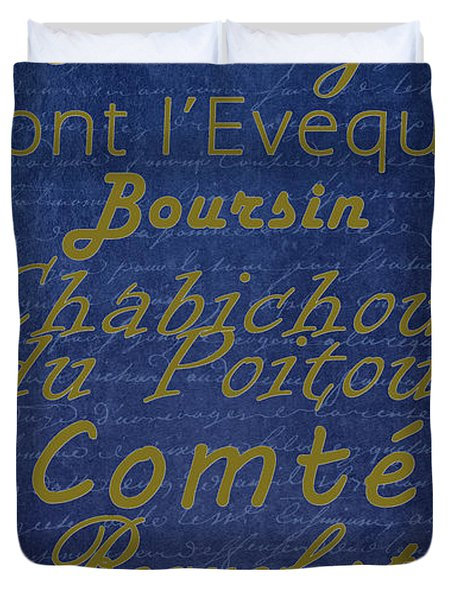 French Cheeses - 2 Duvet Cover by Paulette B Wright