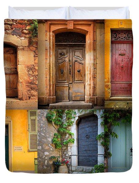 French Doors Duvet Cover by Inge Johnsson